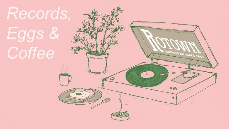 Records eggs and coffee