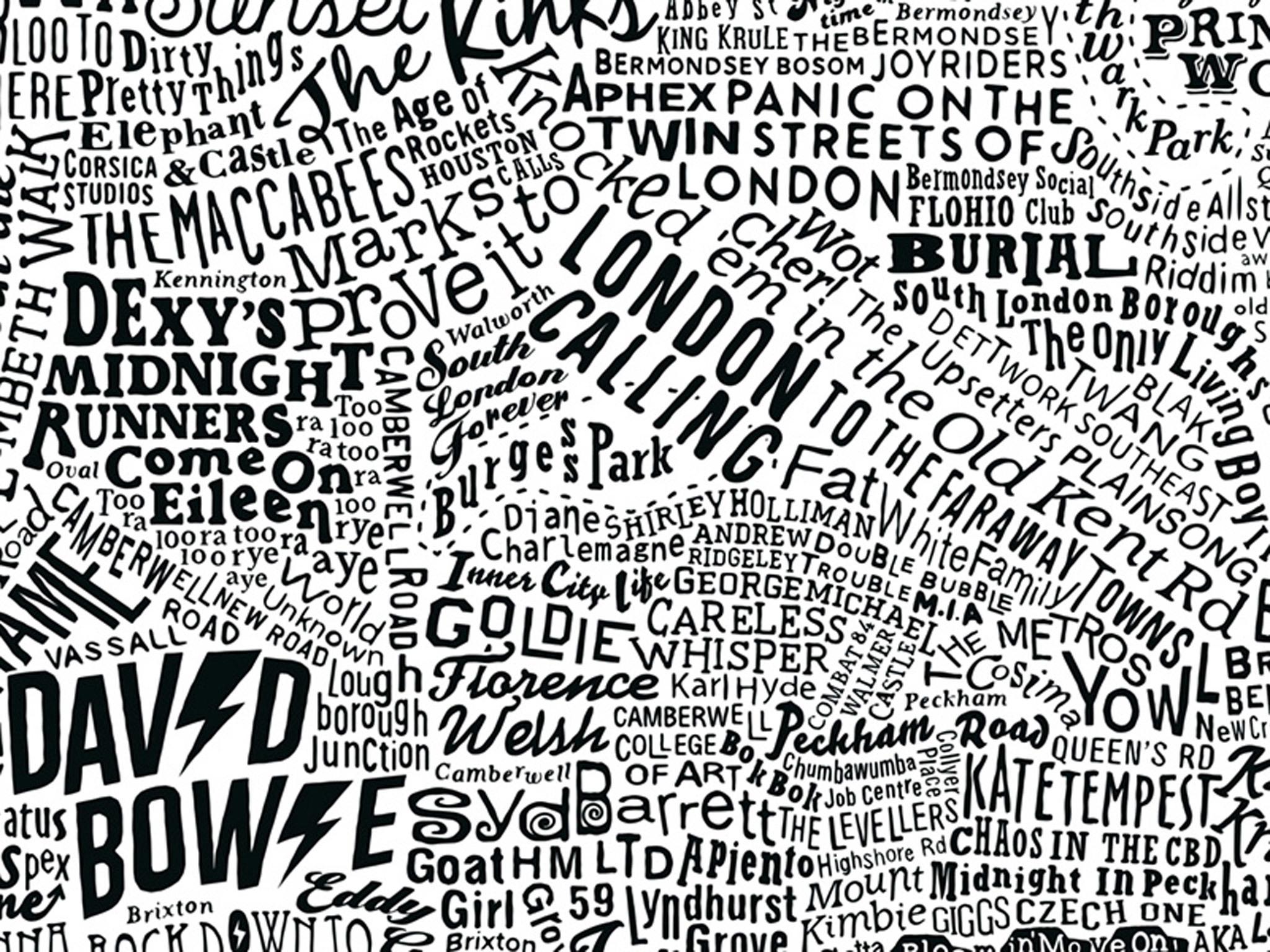 muzikale kaart van londen