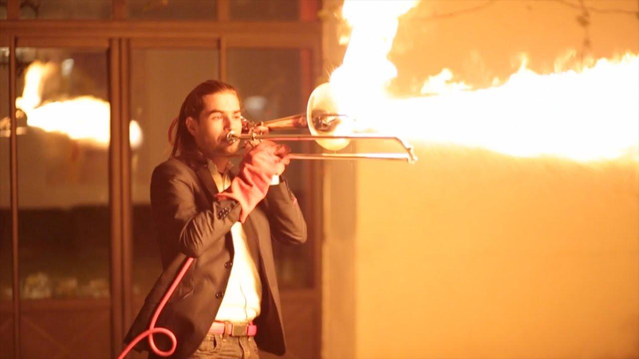 pyro trombone